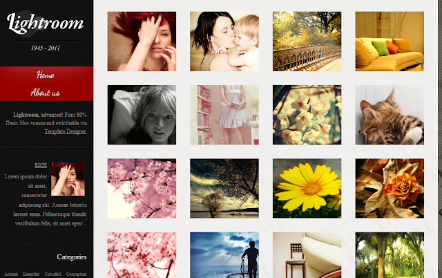 Photography Gallery Blogger Template