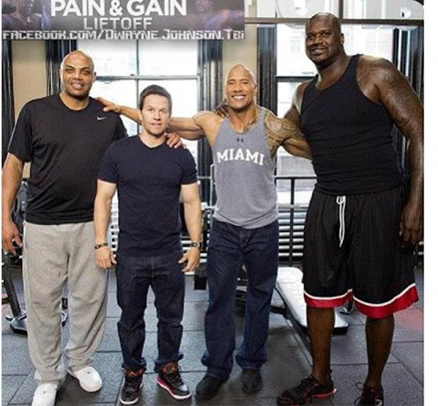 Charles Barkley  Mark Wahlberg  The Rock  and Shaq O NealVin Diesel And Dwayne Johnson Height