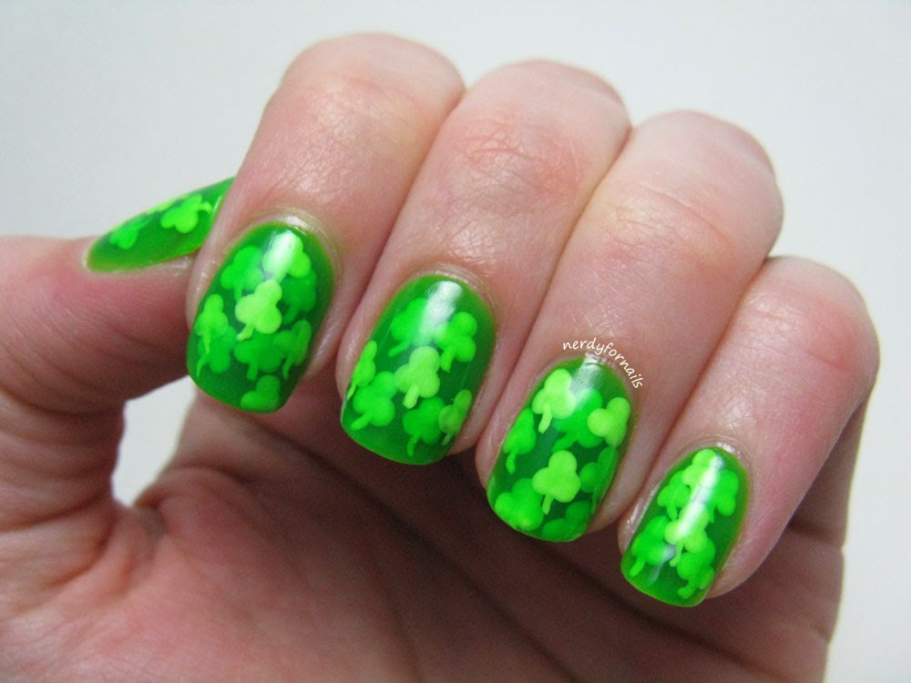 Get Lucky Nail Art Challenge Clover Pond Manicure