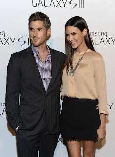 Odette Annable with husbant Dave Annable at Samsung Galaxy S III Launch in Los Angeles