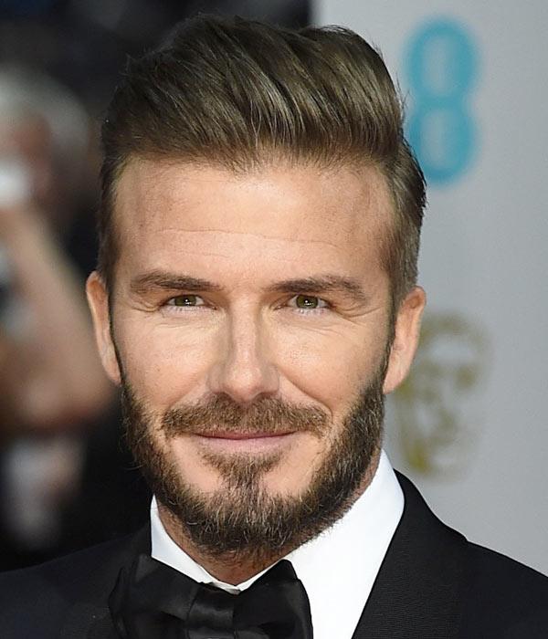 David Beckham Hair 2015 BAFTAs