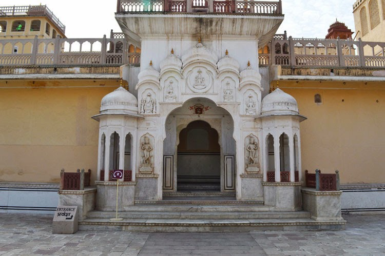 a gate inside Hawa Mahal