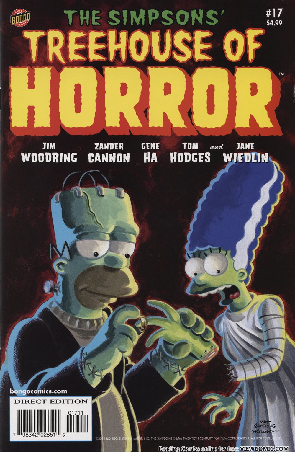 bart simpson's treehouse of horror 017 (2011) | viewcomic reading