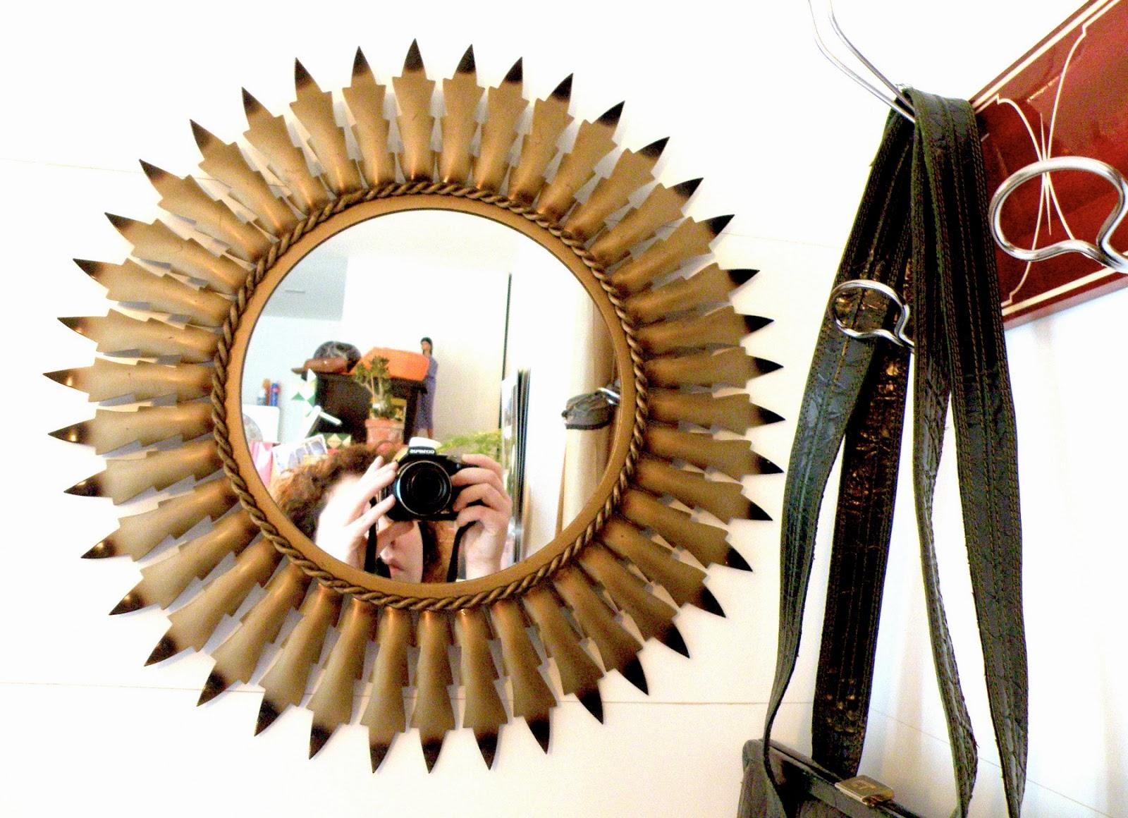 Meandthemajor vendido espejo con forma de sol a os 60 70 - Espejos con forma de sol ...