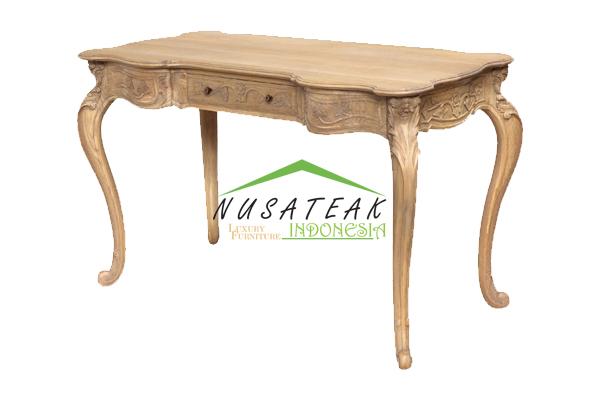 Bengkalis French Carved Writing Desk - Nusa Teak