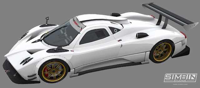 Pagani Zonda R GTR3 renders