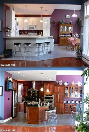 Kitchen decor before and after kitchen remodels for Before and after pictures of remodeled kitchens