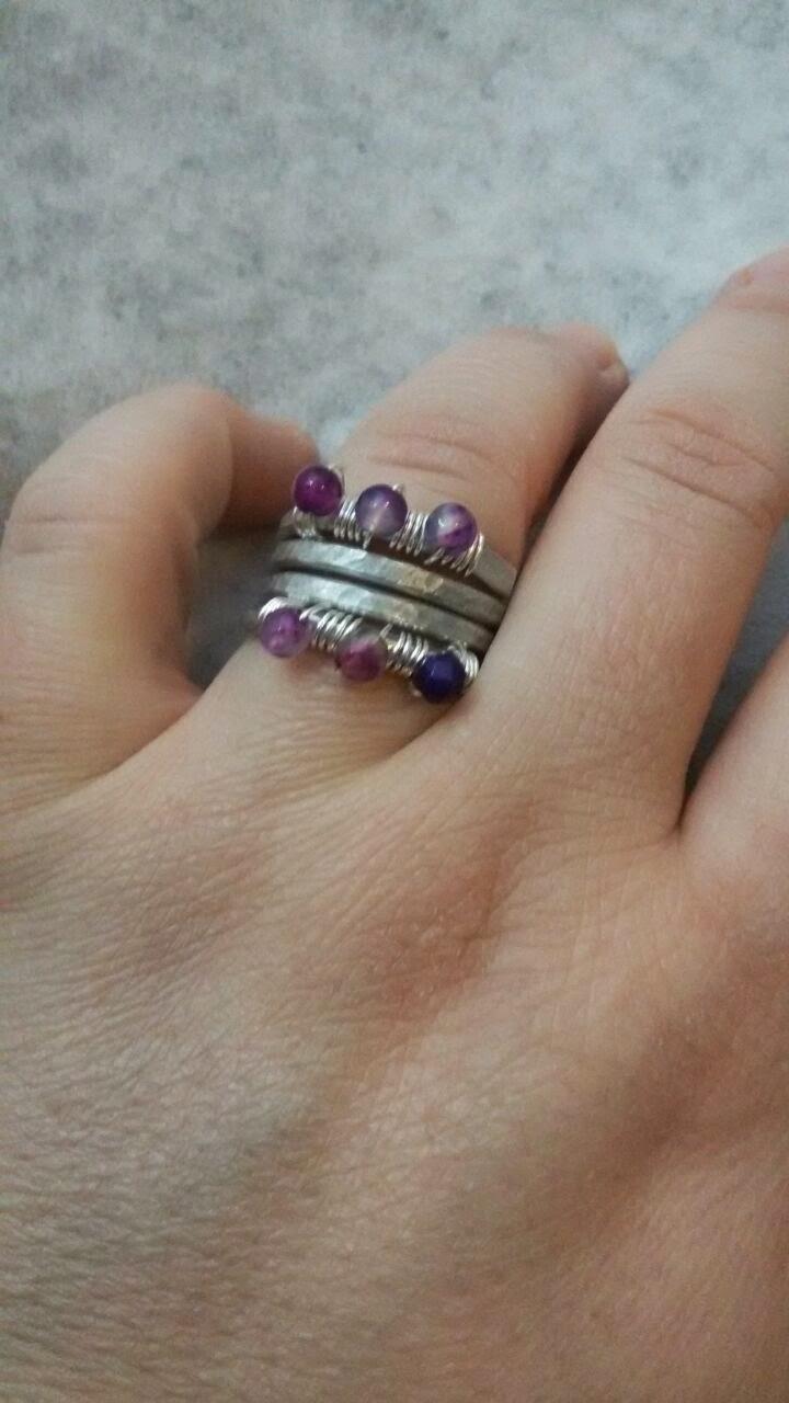 """Anello """"enveloppe violet"""""""