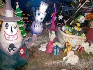 ... old neighborhood: Bakery window, Nightmare Before Christmas display