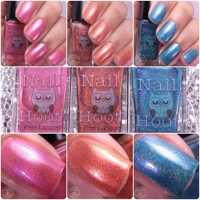 Nail Hoot Lacquer - The Holo'd Trio