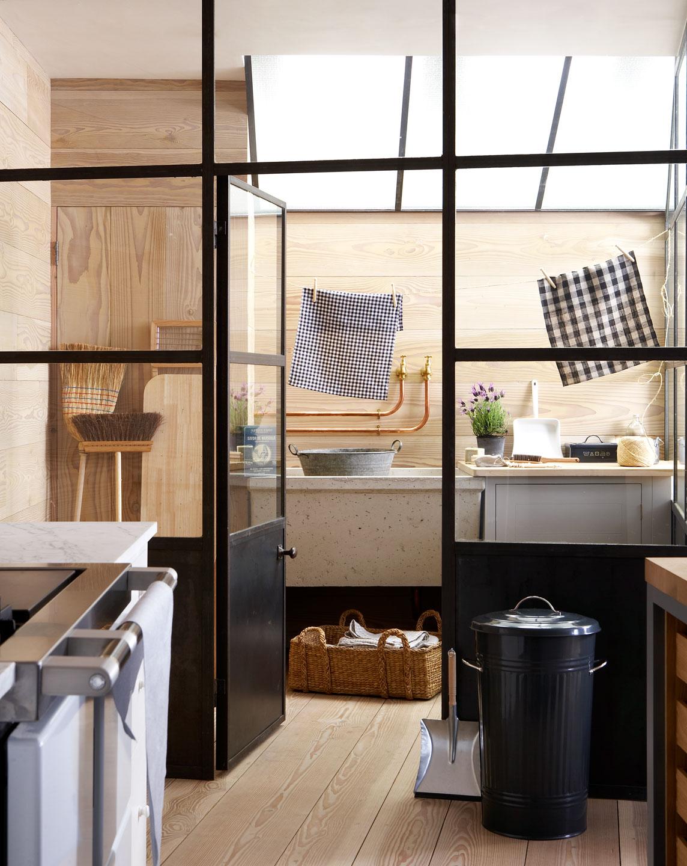 Chicdeco blog una preciosa cocina en madera naturala for Cocina y lavanderia juntas