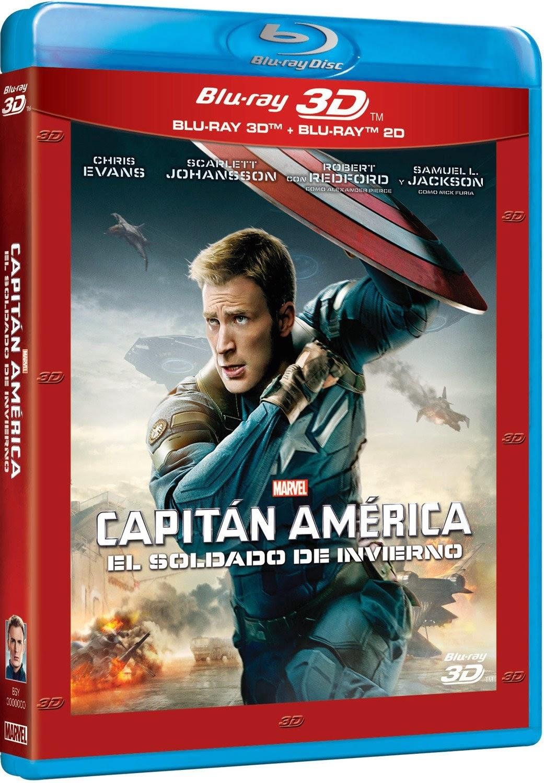 Capitán América: El Soldado de Invierno. Ya la venta en Blue-Ray 3D