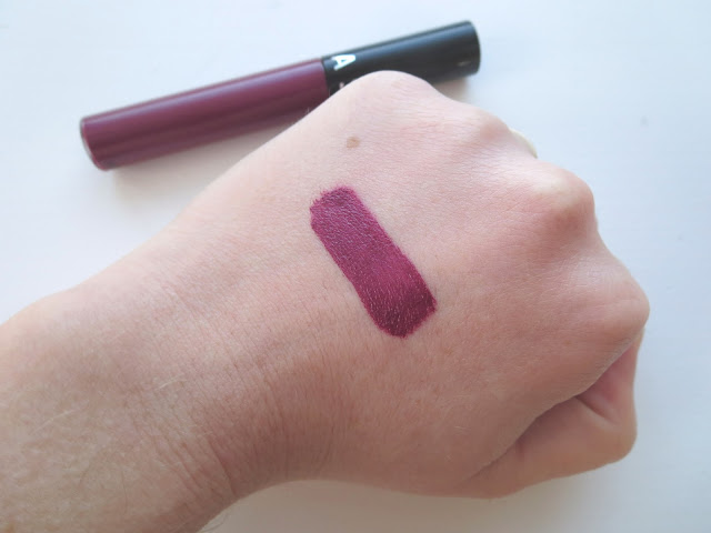a picture of Sephora Cream Lip Stain in Blackberry Sorbet (swatch)