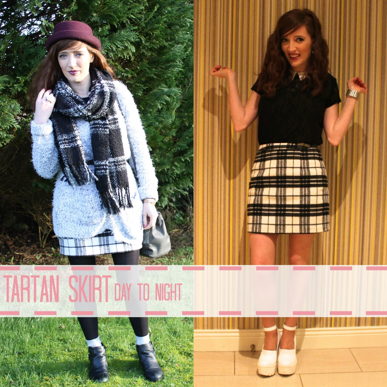 Bec boop tartan skirt day night