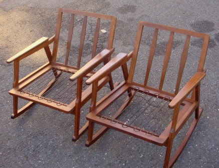 Wood Rocking Chairs (2)-