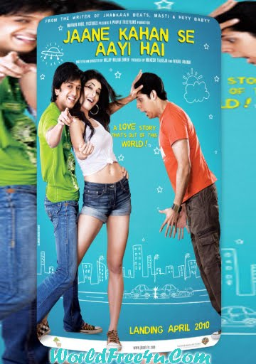 Poster Of Bollywood Movie Jaane Kahan Se Aayi Hai (2010) 300MB Compressed Small Size Pc Movie Free Download worldfree4u.com