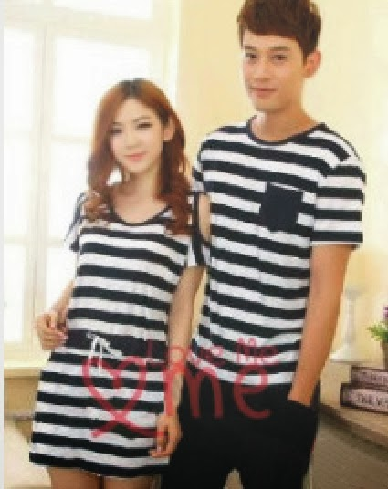Baju: Dress Kaos Couple Zebra Hitam Putih