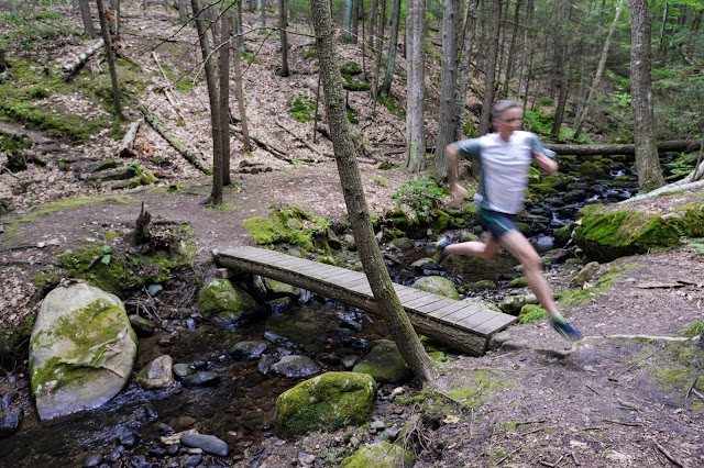 trail running at the Breckenridge Sanctuary in Williamsburg, MA