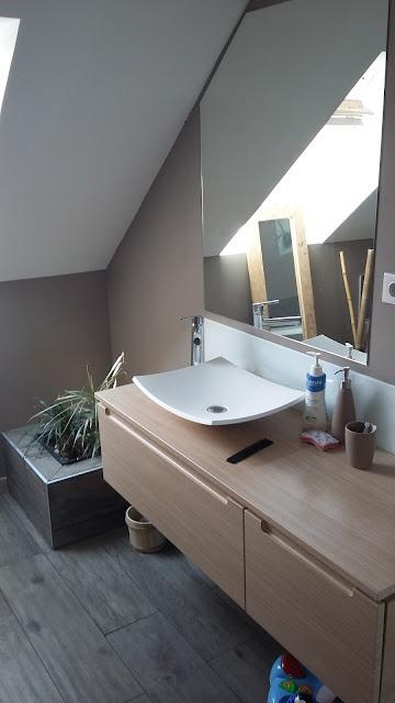 salle de bain moderne nature zen design niche intégré spot ambiance