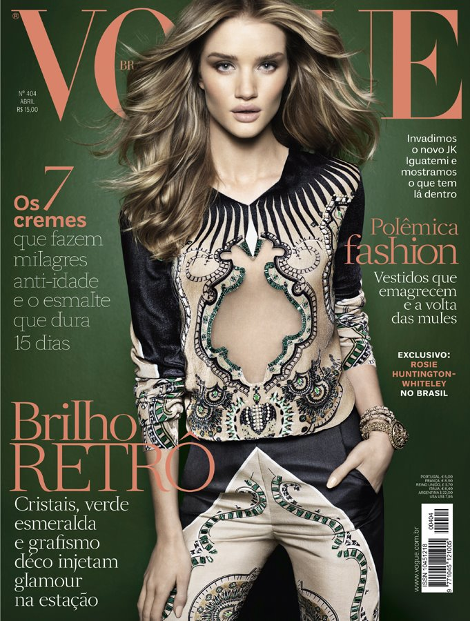 Vogue Brazil April 2012: Rosie Huntington-Whiteley
