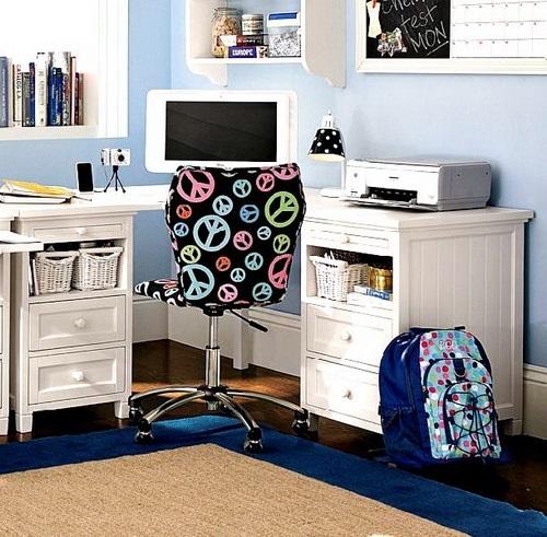 Decora y disena 17 ideas de cuarto de estudio para chicos for Habitacion de estudio