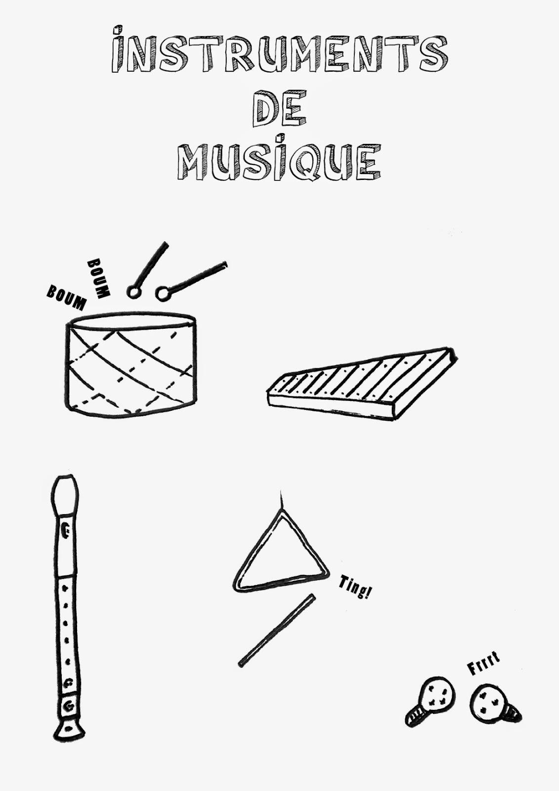 Imprimer une étiquette pour la caisse de rangement des flûtes, maracasses, tambours...