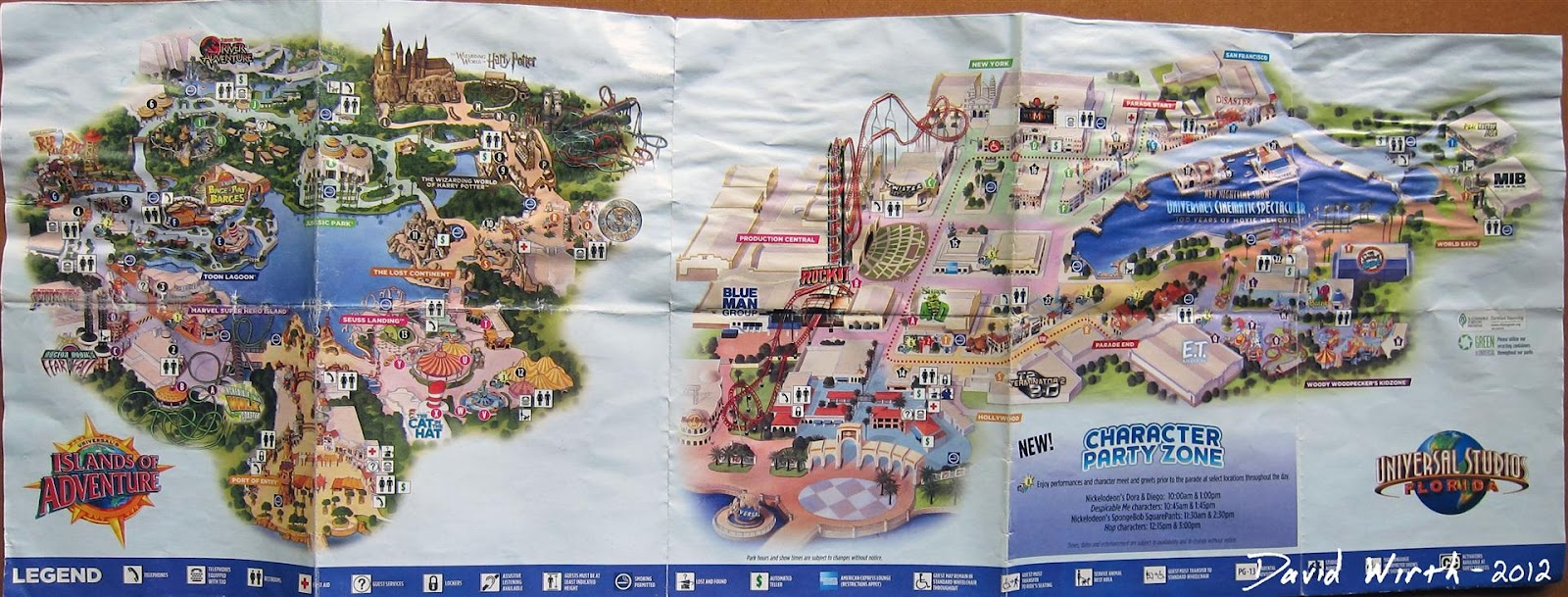 Universal studios islands of adventure map orlando