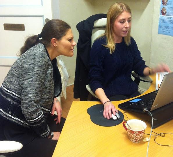 Crown Princess Victoria Visited Tjejzonen's Office In Stockholm