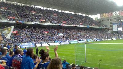 20.635 personas animaron al Real Oviedo ante el Eibar