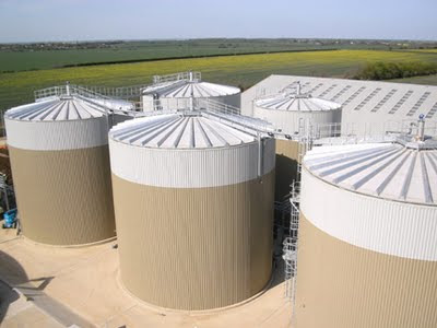 Anaerobic digestion plant on a farm