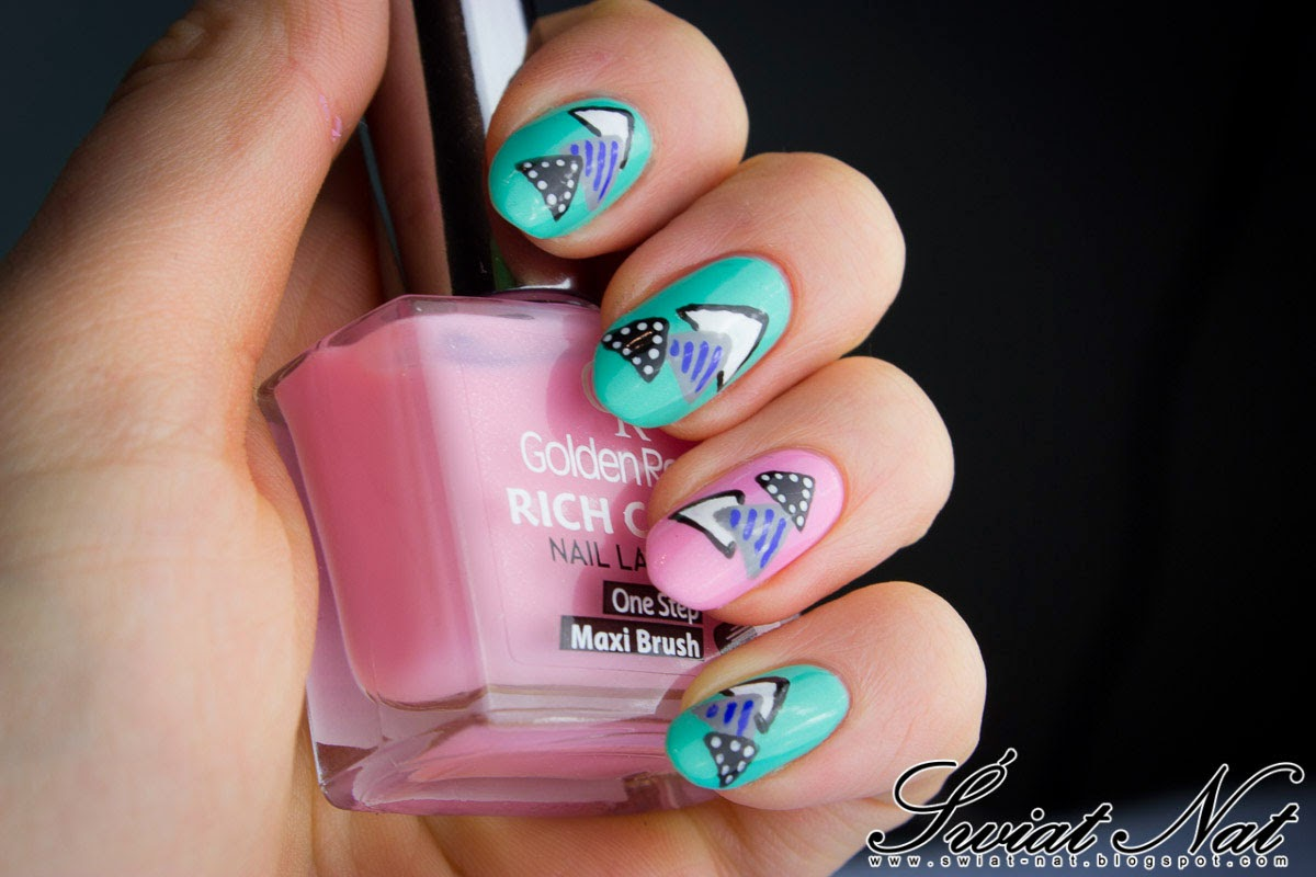 różowy essie mint miętowy seche vite nails