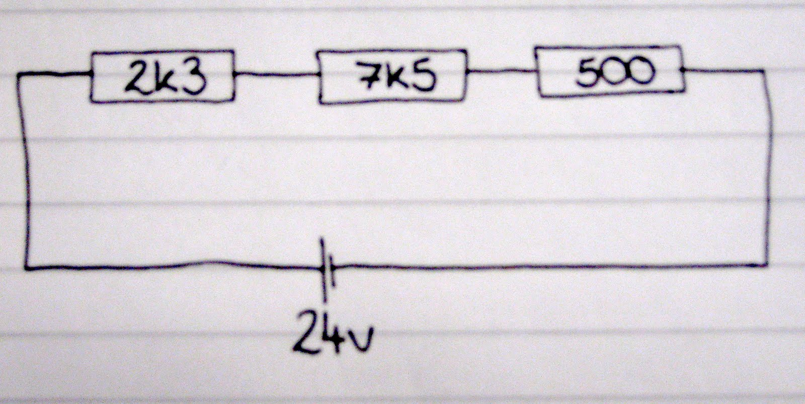 4cr Technological Studies March 2012 The Combined Resistance Of Resistors In Series Is Sum All Because Are End To A Circuit Find Total Resistances
