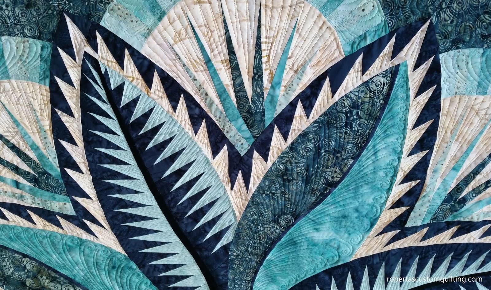 Roberta S Custom Quilting Fire Island Hosta Judy Niemeyer