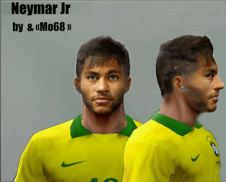 Face&Haire Neymar J.R V1 FiFa World Cup Brazil by Mo68 pes6 2014/2015