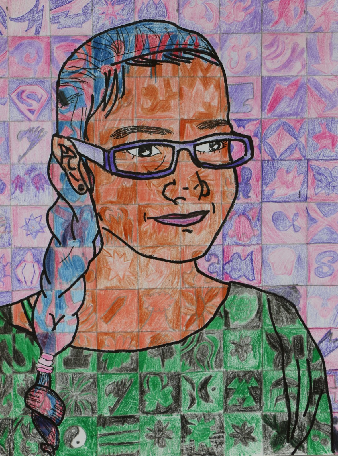 Salem Hyde Artroom 6th Grade Symbolic Self Portraits