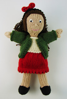 hand knit doll dress clothes