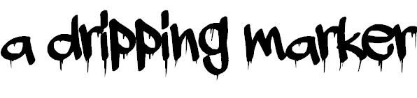 A dripping marker Free Halloween Font