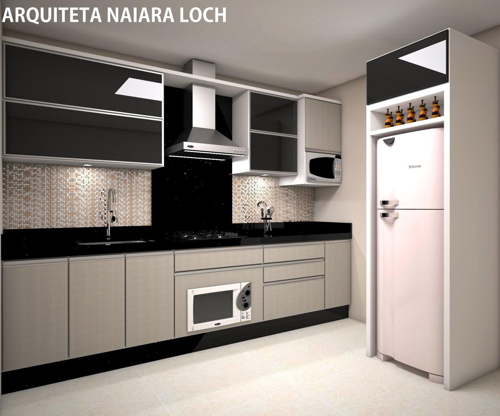 Cozinha Projeto e execução Arquiteta Naiara Loch #AA6521 1600 1330