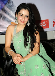 Sambhavi Sharma in lovely green saree at Vareva Audio Release