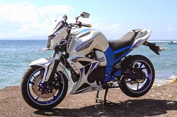 modifikasi motor byson putih terkeren