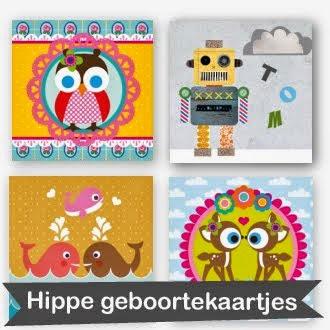 hippe geboortekaartjes
