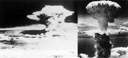 Foto-Foto dari Berbagai Peristiwa Masa Lalu Yang Paling Mengerikan, Mengejutkan, Menyedihkan dan Bikin Syok - Bom atom di Hiroshima dan nagasaki
