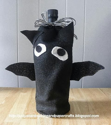 Halloween, Wine Bottle Cover, Bat Wine Bottle Cover