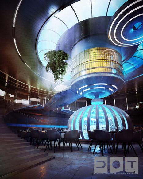 Underwater discus hotel concept in dubai for Hotel concept