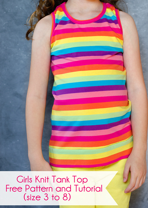 Free Knitting Pattern For Toddlers Tank Top : Girls Knit Tank Top Pattern and Tutorial (size 3 to 8) Scattered Thoughts o...