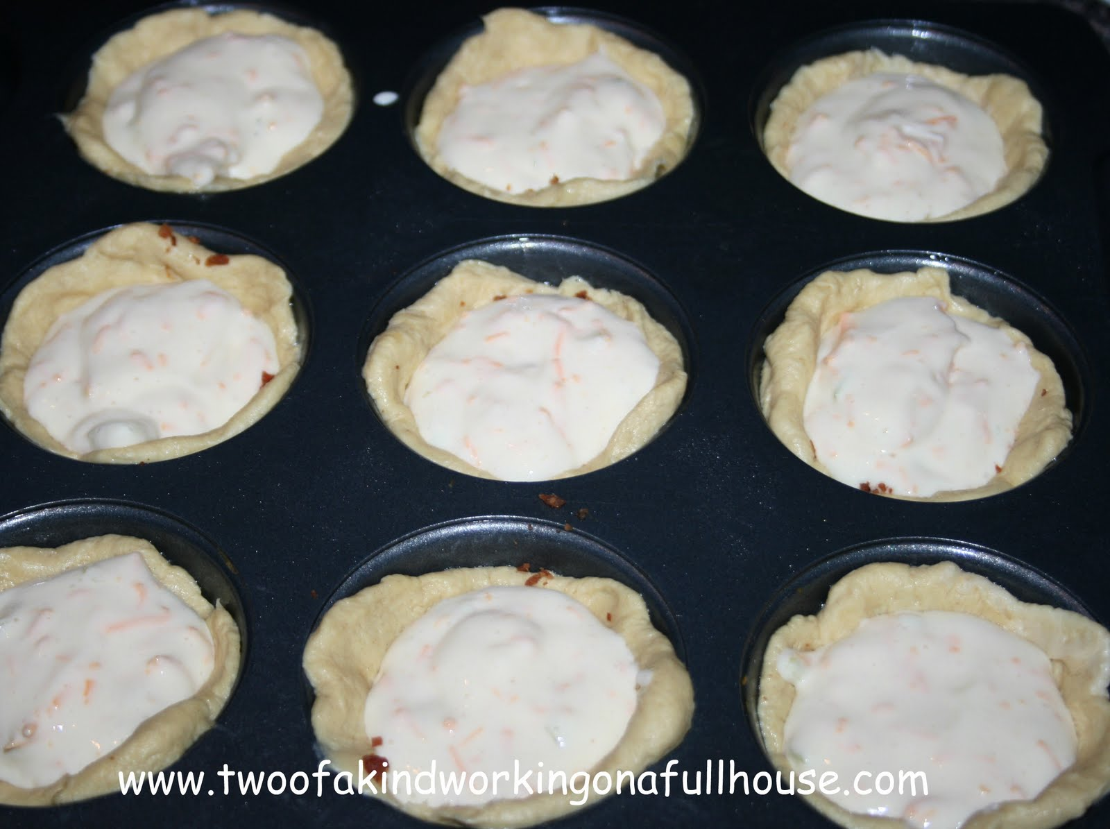 Bacon Quiche Biscuit Cups | Two of a kind, working on a full house