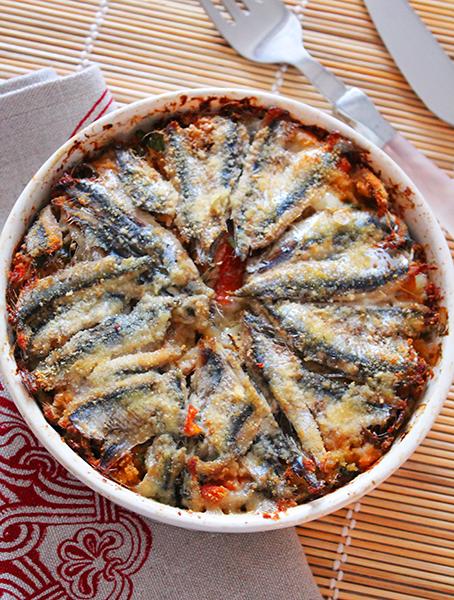 tortino, alici, pesce, pesci e crostacei, Sicilia, Sicilia in tavola, ricette