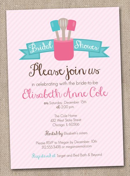 Bridal Shower Invitations Kitchen Bridal Shower Invitation Ideas
