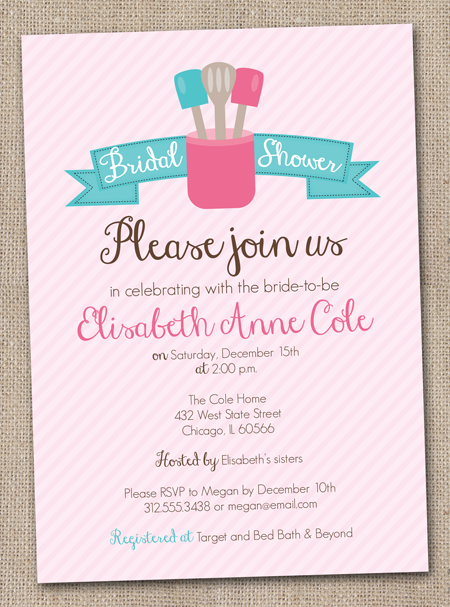 New! Kitchen Inspired Bridal Shower Invitations