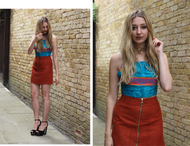 how to style suede skirt